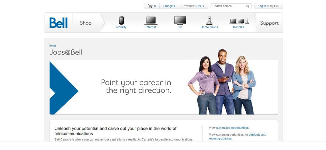 Bell Canada, Mobile phones, TV, Internet and Home phone service