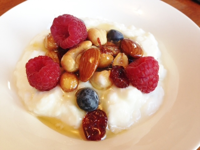 Greek Yogurt, Berries, Nuts & Honey