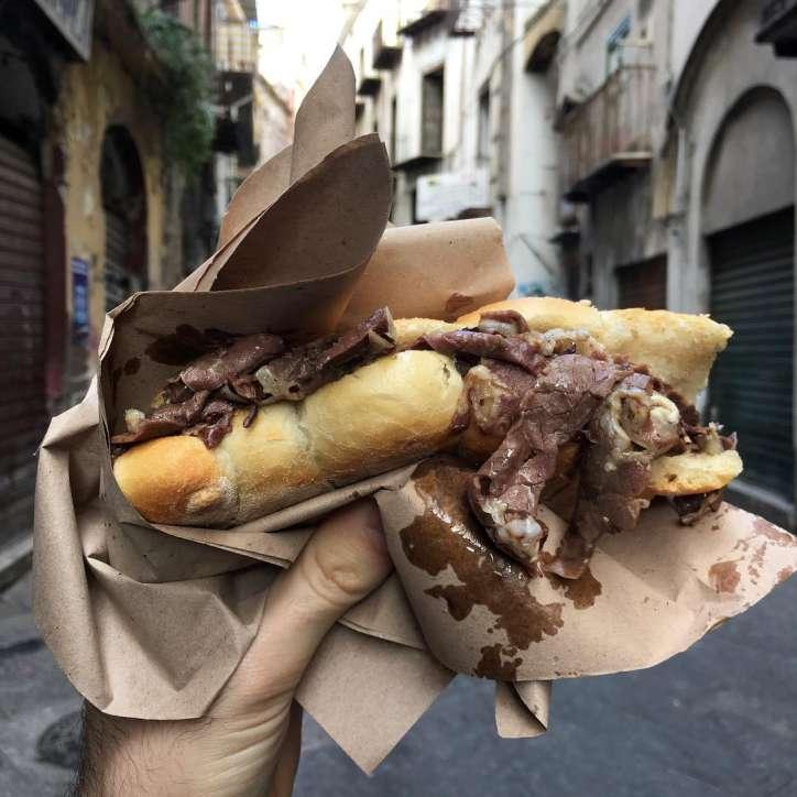 pane con milza, sicilian, sicily