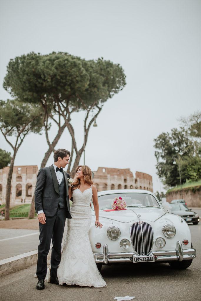 Party on the Road, Vintage Jaguar, Rome