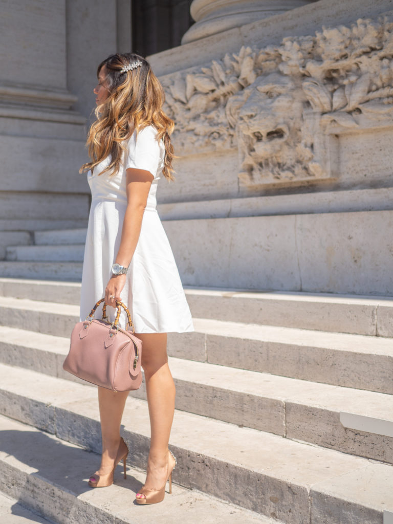 Monki Style, White Dress, How to Accessorize